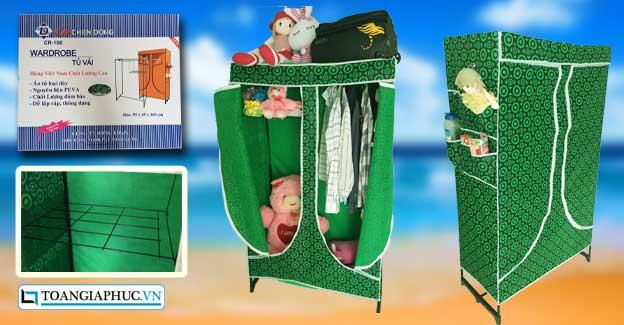 tủ vải quần áo lắp ráp cao cấp giá rẻ cho sinh viên ở tphcm